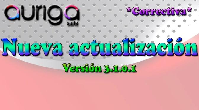 Nueva actualización Auriga Suite (3.1.0.1)
