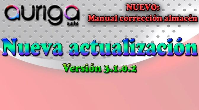 Nueva actualización Auriga Suite (3.1.0.2)