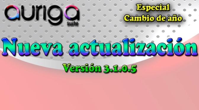 Nueva actualización Auriga Suite (3.1.0.5)