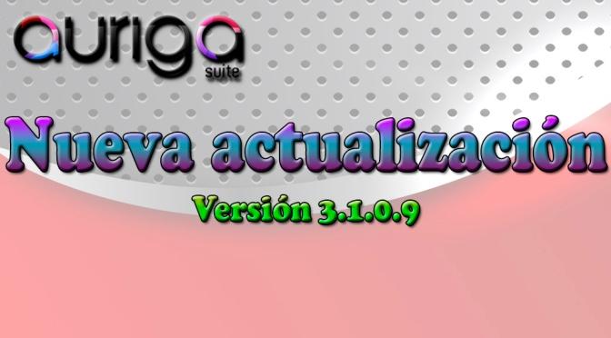 Nueva Actualización Auriga Suite (3.1.0.9)